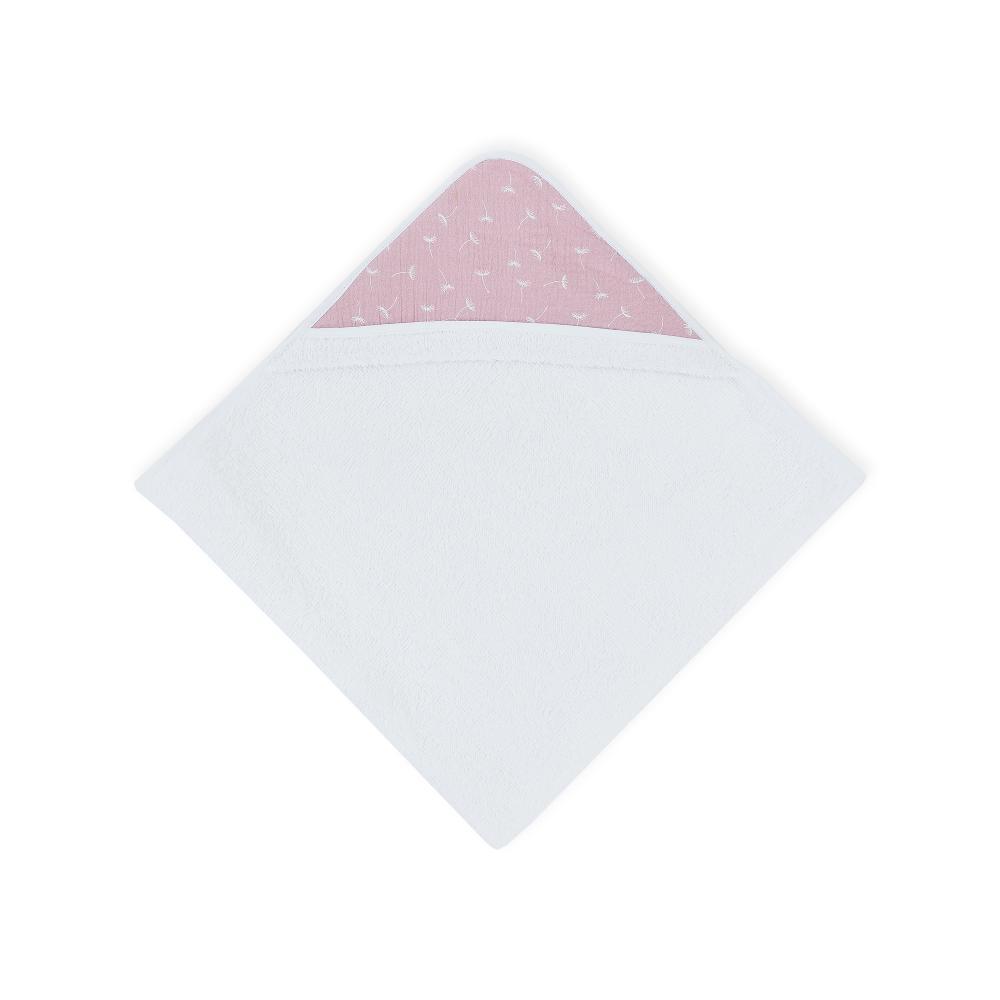 KraftKids Kapuzenhandtuch Musselin rosa Pusteblumen