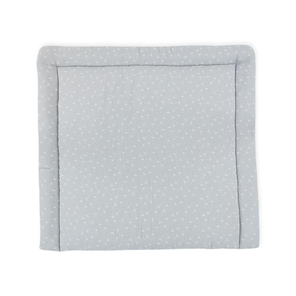 KraftKids Wickelauflage Musselin grau Pusteblumen breit 60 x tief 70 cm passend für Waschmaschinen-Aufsatz von KraftKids