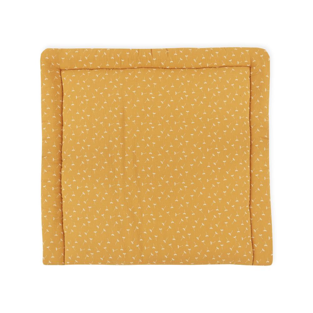 KraftKids Wickelauflage Musselin gelb Pusteblumen breit 60 x tief 70 cm passend für Waschmaschinen-Aufsatz von KraftKids