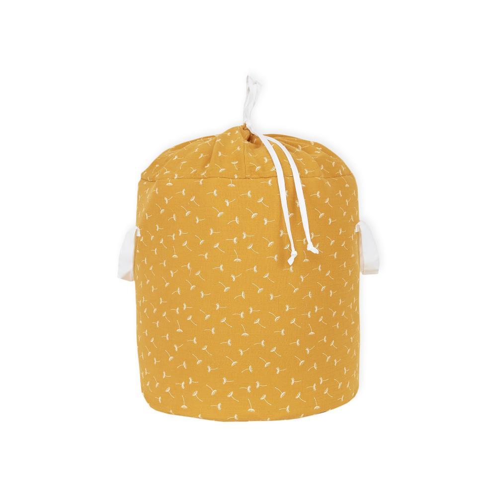 KraftKids Spielzeugkorb Musselin gelb Pusteblumen