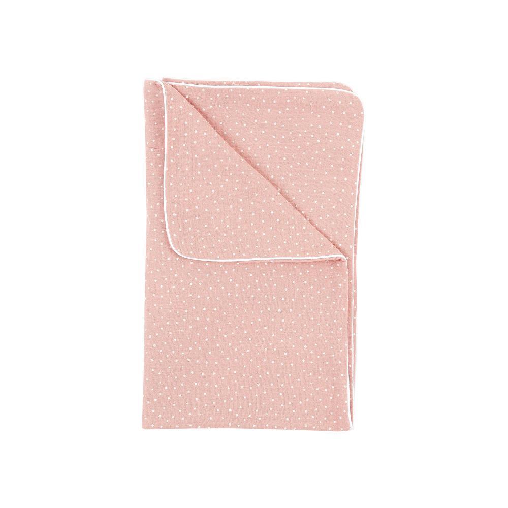 KraftKids Babydecke Musselin rosa Punkte