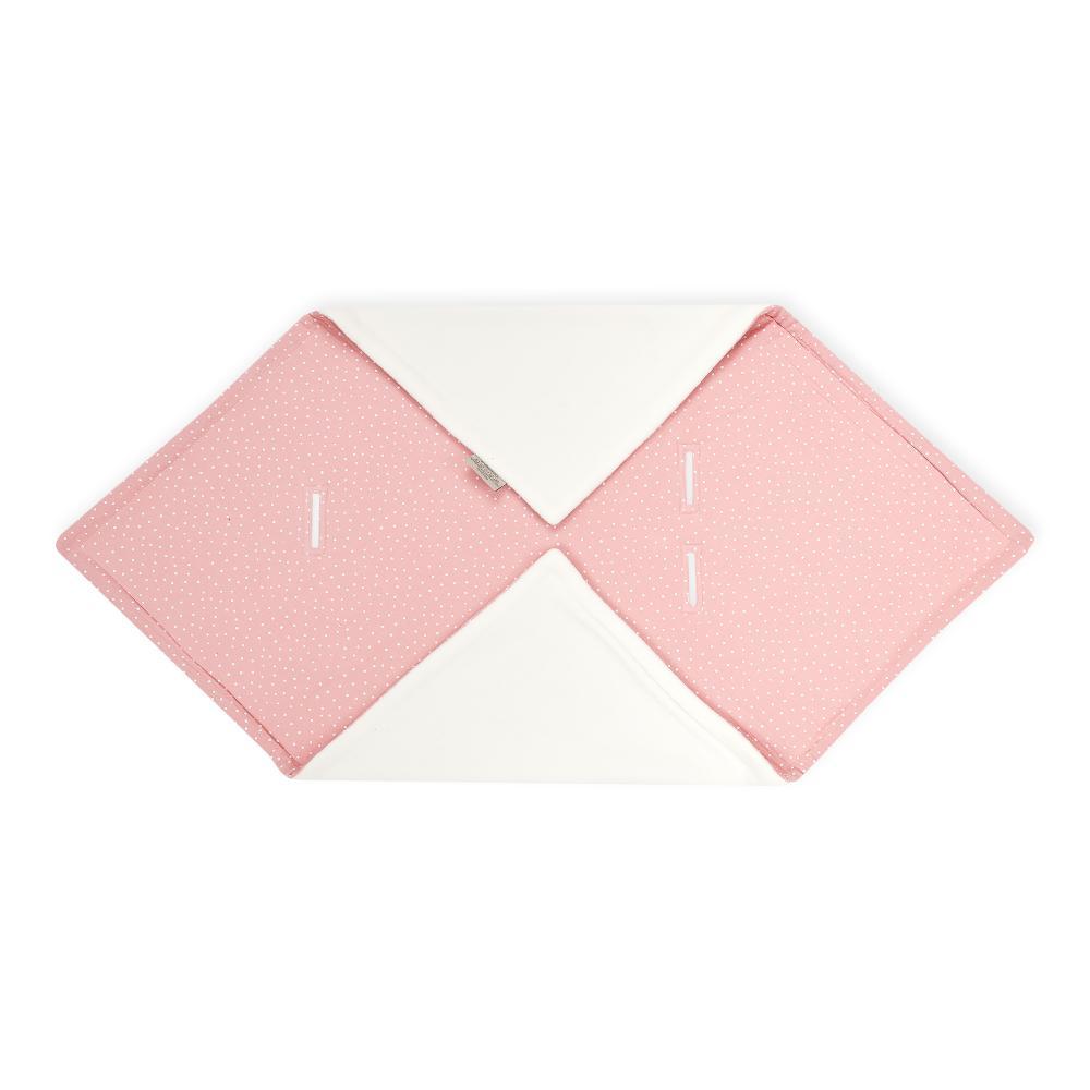 KraftKids Einschlagdecke für Babyschale Winter Musselin rosa Punkte