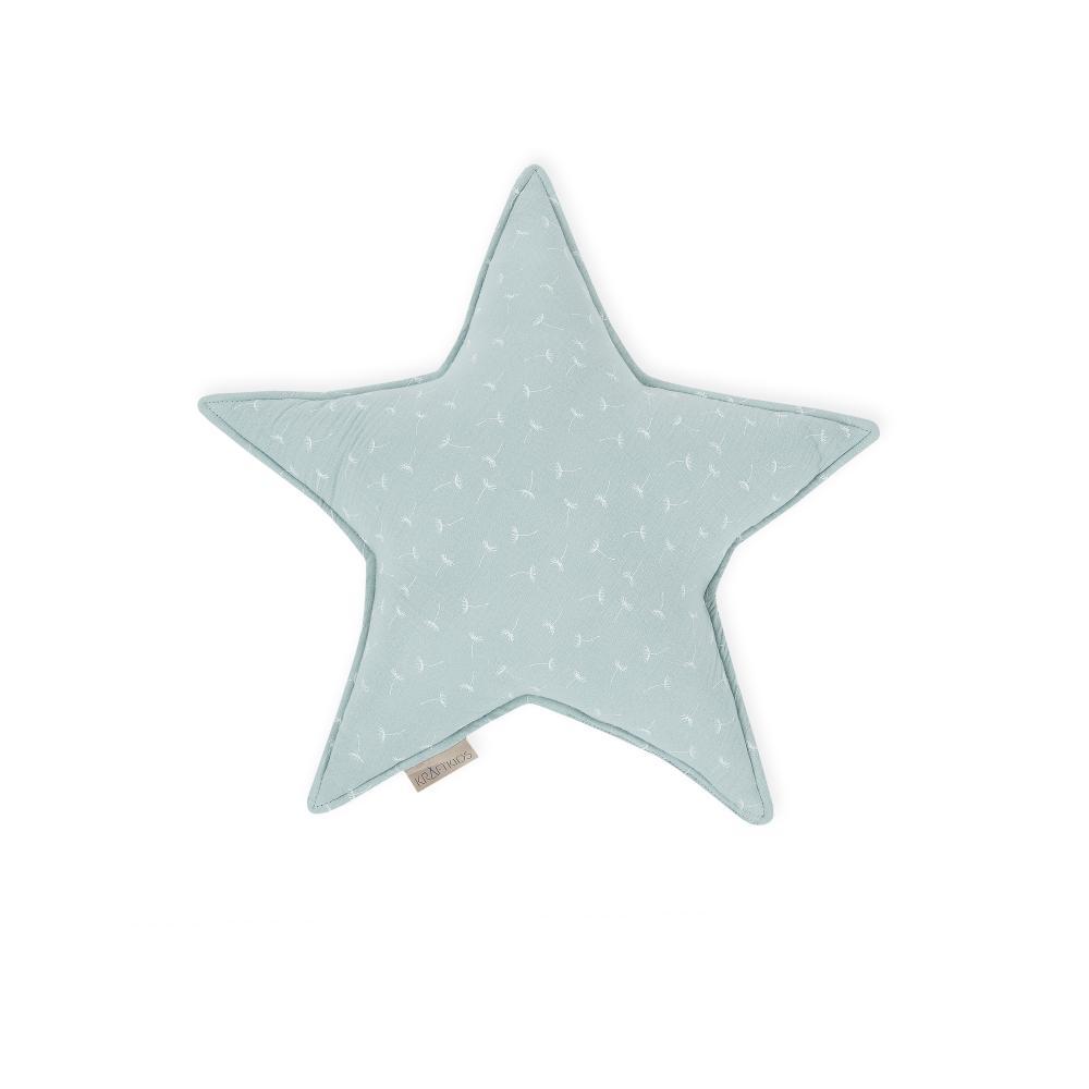 KraftKids Dekoration Sternkissen Musselin mint Pusteblumen
