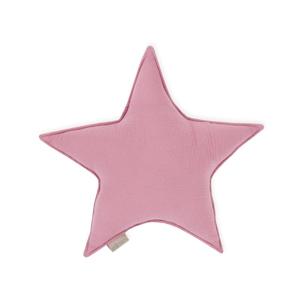 KraftKids Dekoration Sternkissen Musselin rosa
