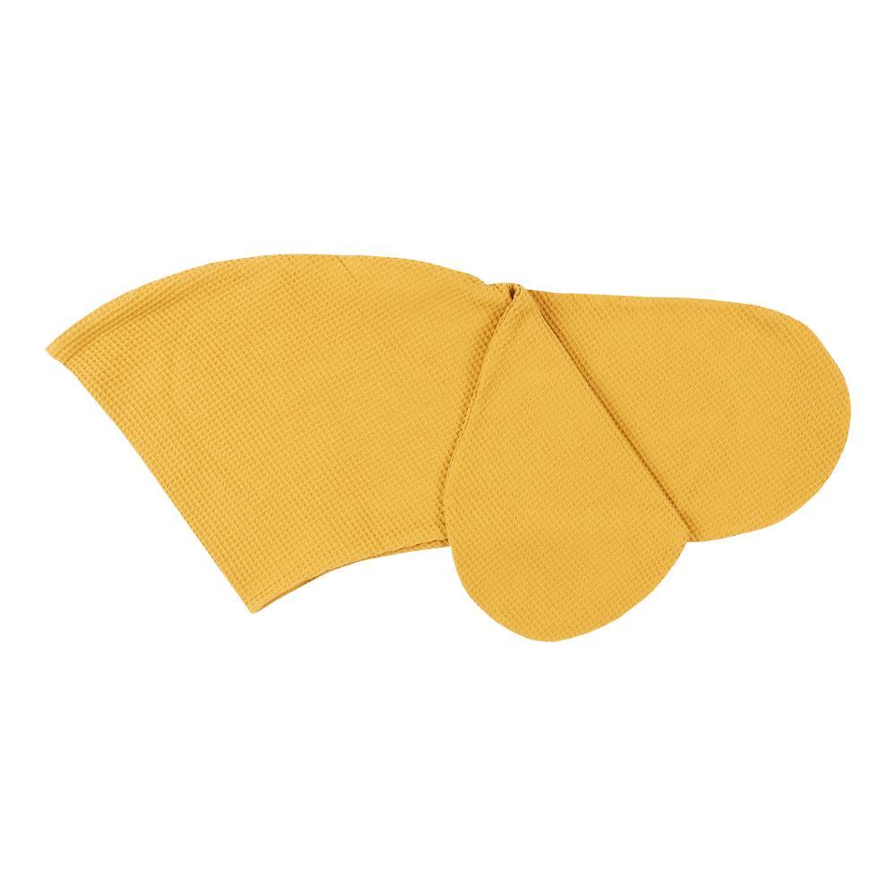 KraftKids Stillkissenbezug Waffel Piqué mustard