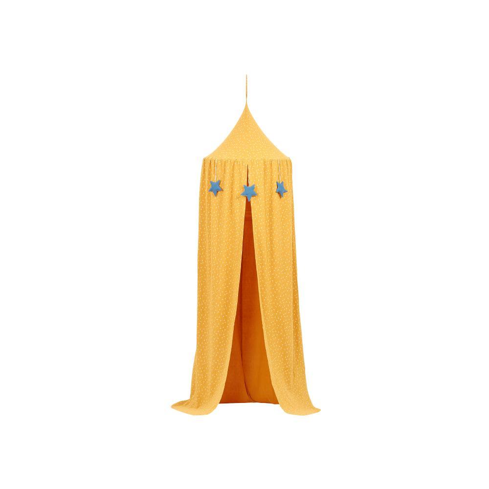 KraftKids Hängezelt Musselin gelb Pusteblumen Baldachin