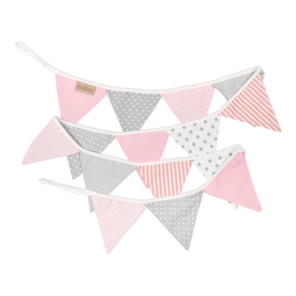 KraftKids Tipi Sets in Rosa rosa grau weiss