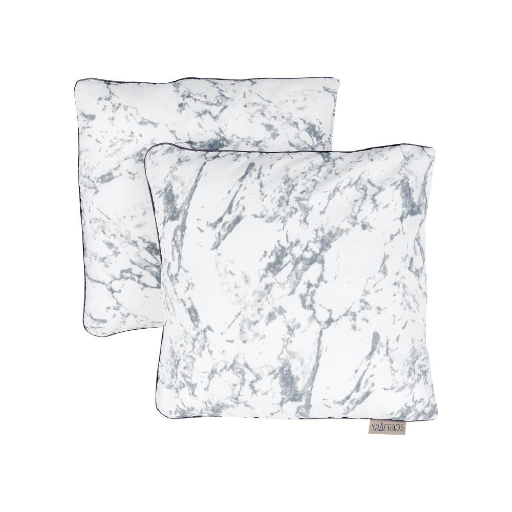 KraftKids Kissenbezug weißer Marmor