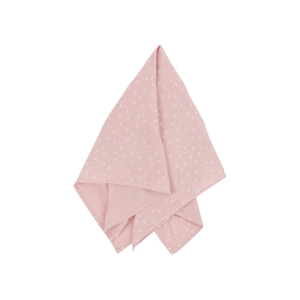 KraftKids Musselintuch Musselin rosa Pusteblumen