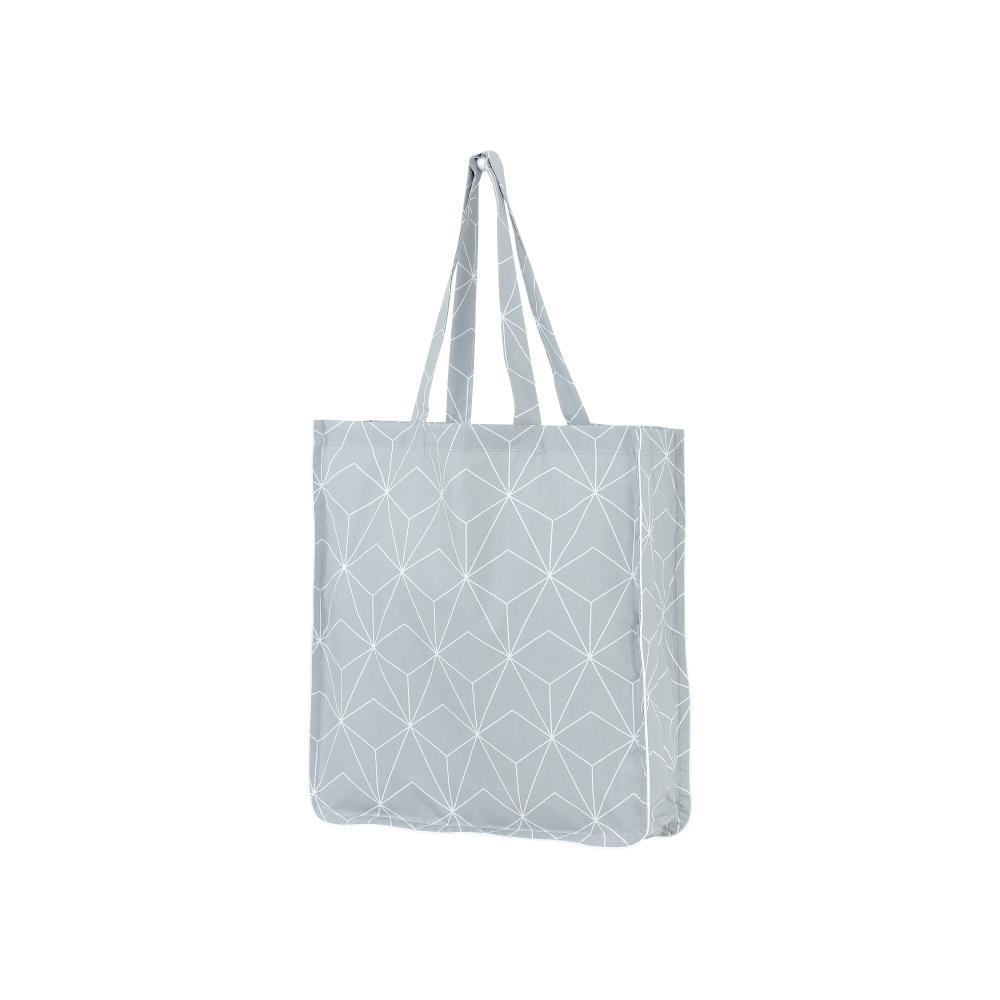 KraftKids Tragetasche weiße dünne Diamante auf Grau Shopper