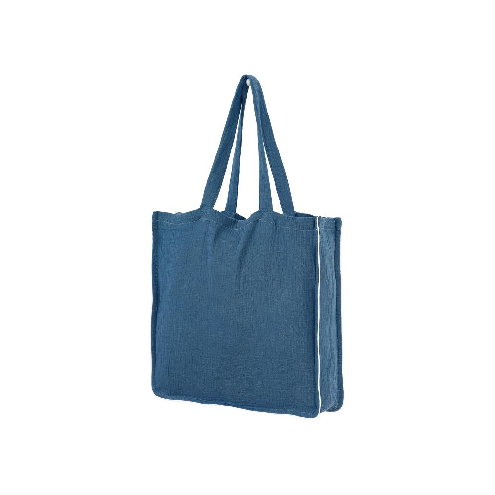 KraftKids Tragetasche Musselin blau Shopper
