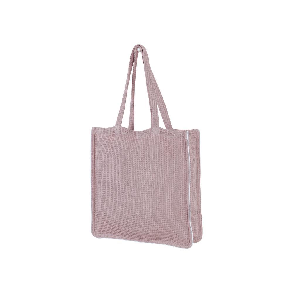 KraftKids Tragetasche Waffel Piqué rosa Shopper