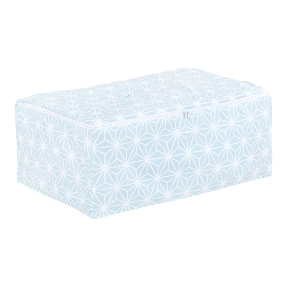KraftKids Körbchen für Unterbett weiße Diamante auf Pastel Blau 60 x 40 x 17 cm