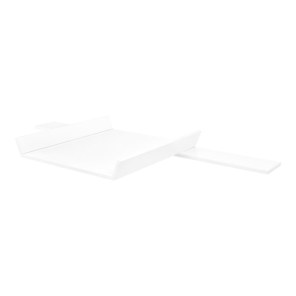KraftKids Wickelaufsatz weiß passend für 160 cm breite HEMNES Kommode Blende und schräge Seiten