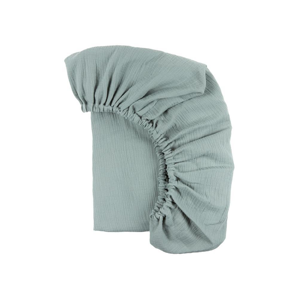 KraftKids Spannbettlaken Musselin mint passend für Matratze 140 x 70 cm
