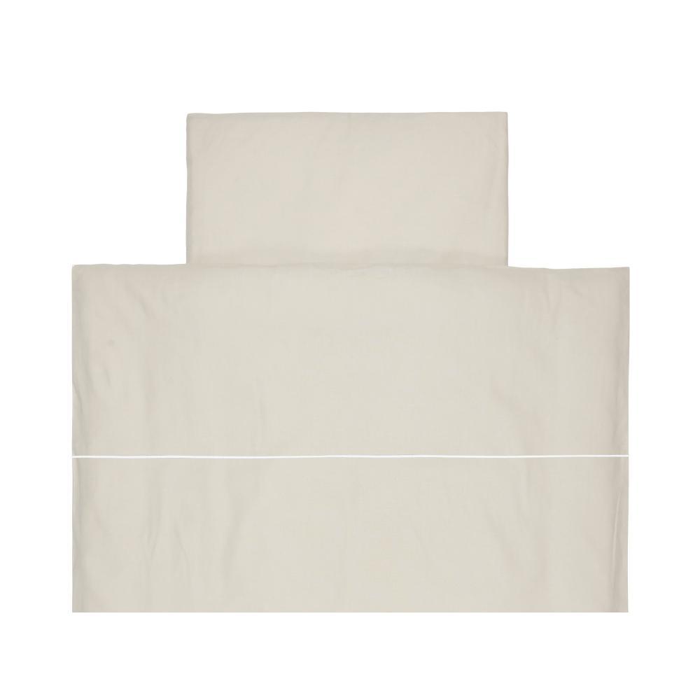 KraftKids Bettwäscheset Leinen Natur Braun 100 x 135 cm, Kissen 40 x 60 cm