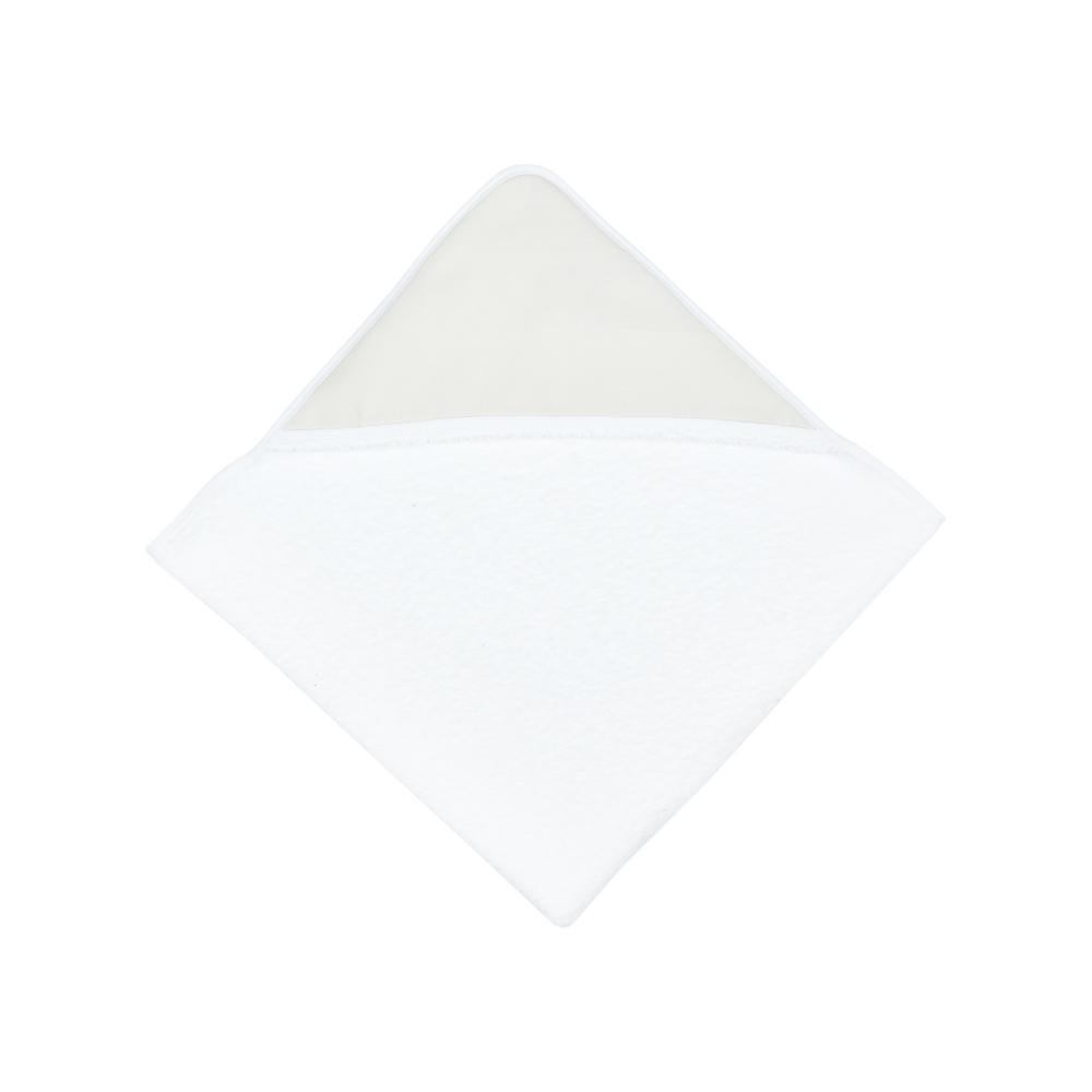 KraftKids Kapuzenhandtuch Leinen leicht grünes Weiß