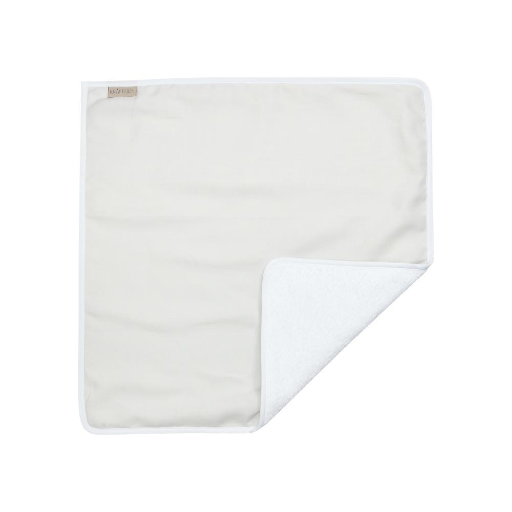 KraftKids Wickelunterlage Leinen leicht grünes Weiß 3 Lagen wasserundurchlässig weich Frotte 100% Baumwolle