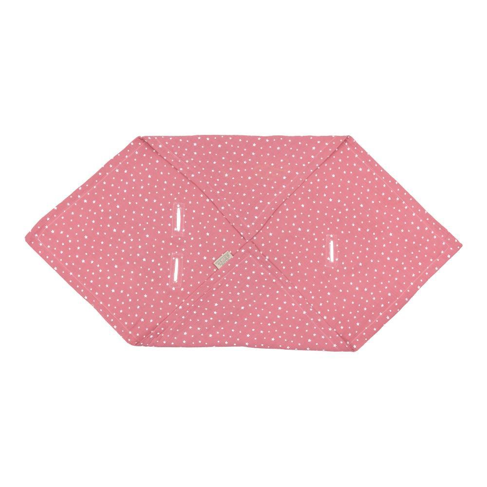 miniFifia Babydecke für Babyschale Sommer Musselin weiße Sterne auf Rosa