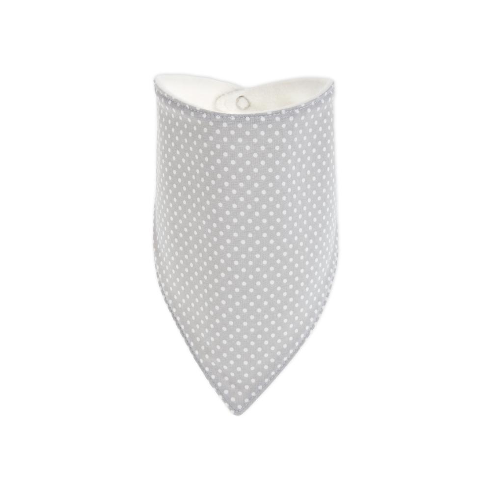 KraftKids Dreieckstuch graue Punkte auf Weiss