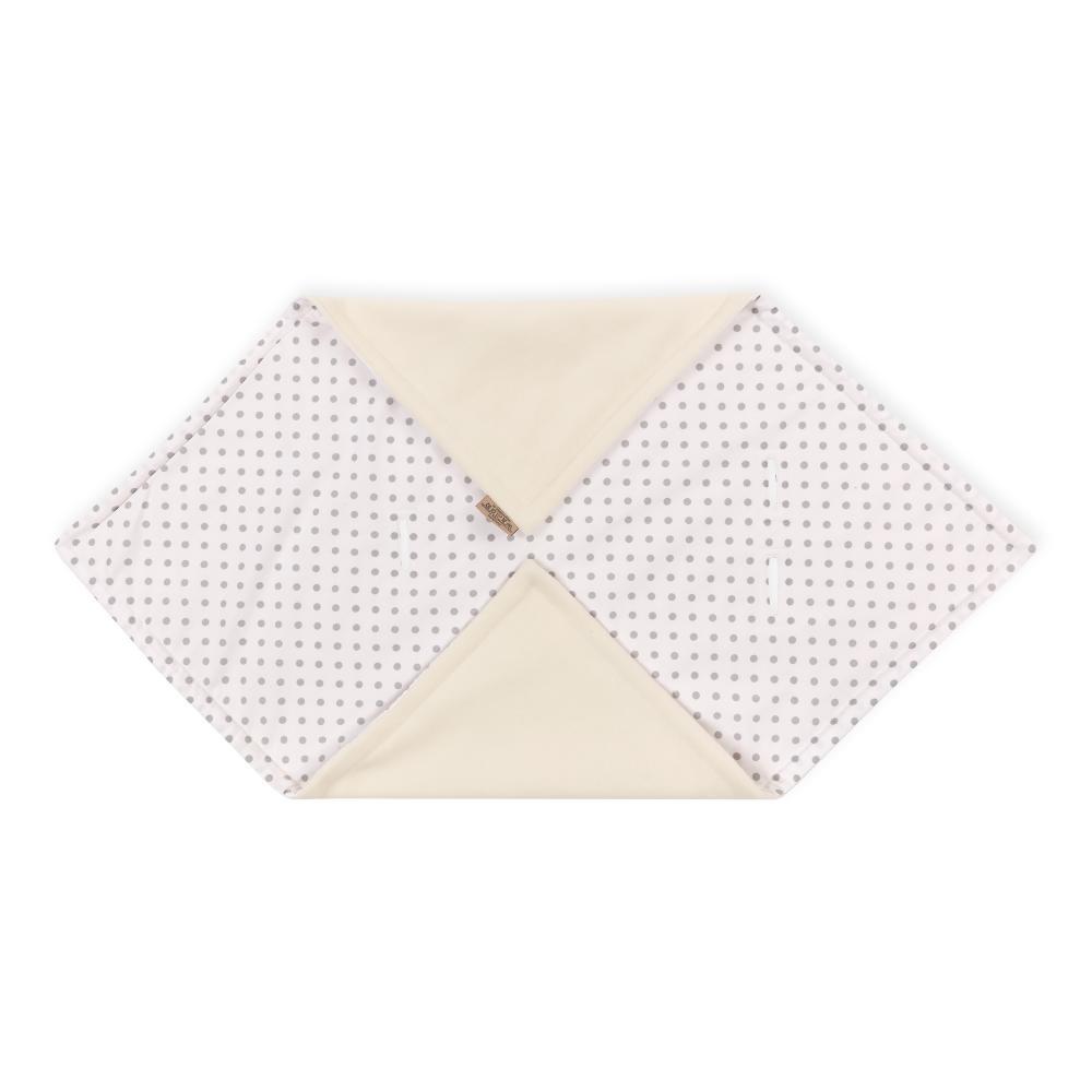 KraftKids Decke für Babyschale Winter graue Punkte auf Weiss