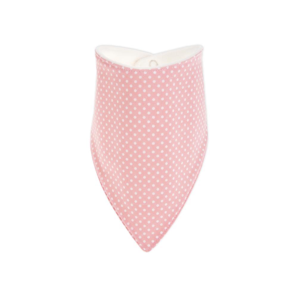 KraftKids Dreieckstuch weiße Punkte auf Rosa