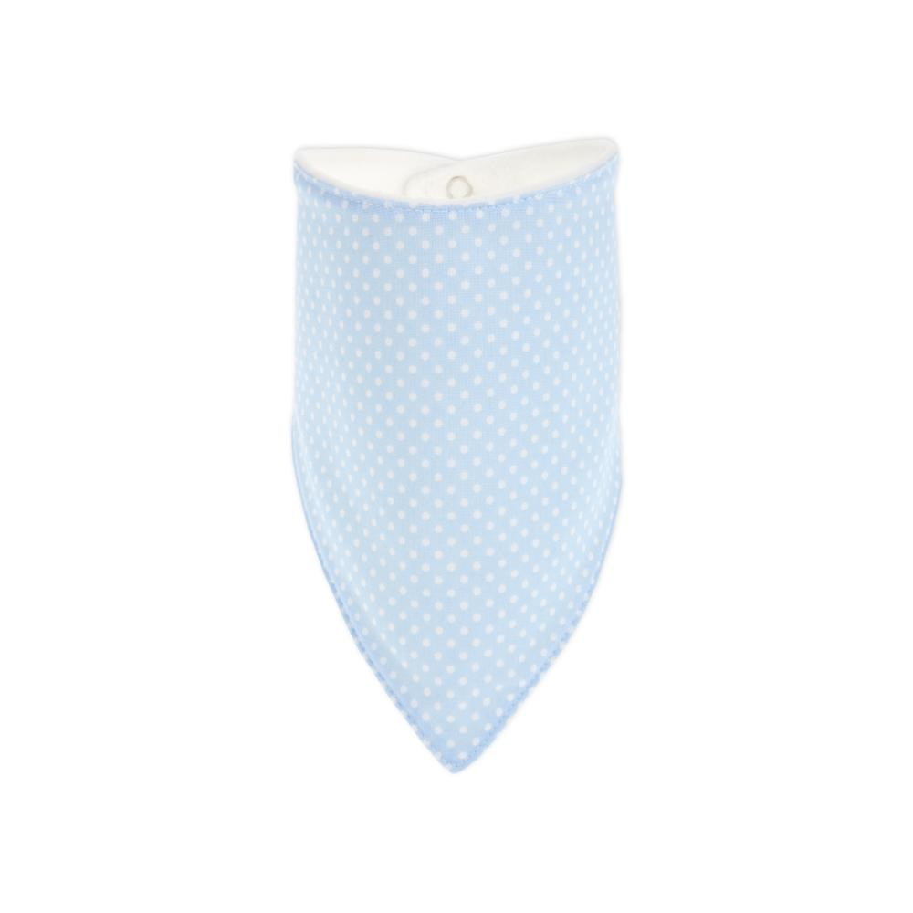 KraftKids Dreieckstuch weiße Punkte auf Hellblau