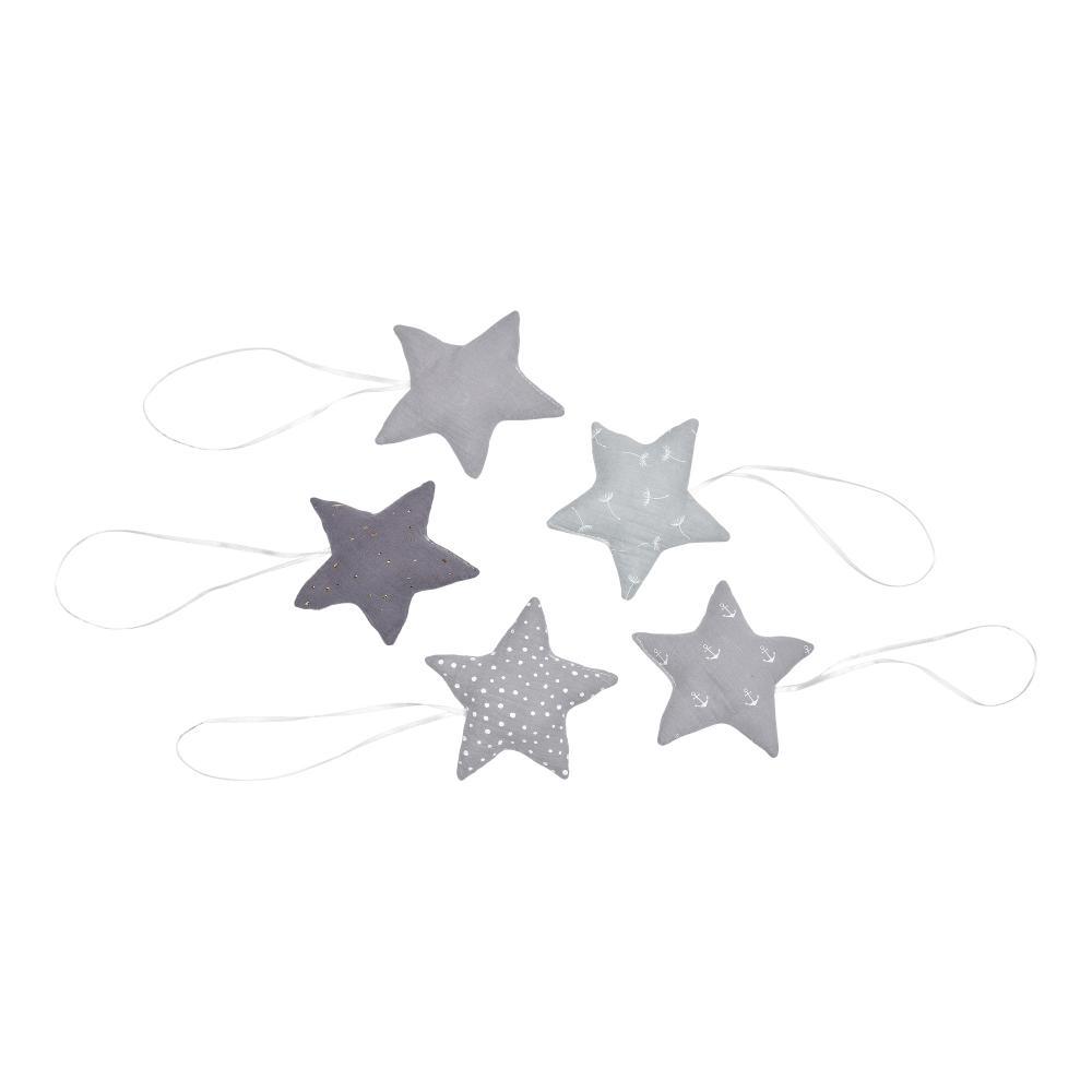 KraftKids Stoffsterne Grau Punkte Anker