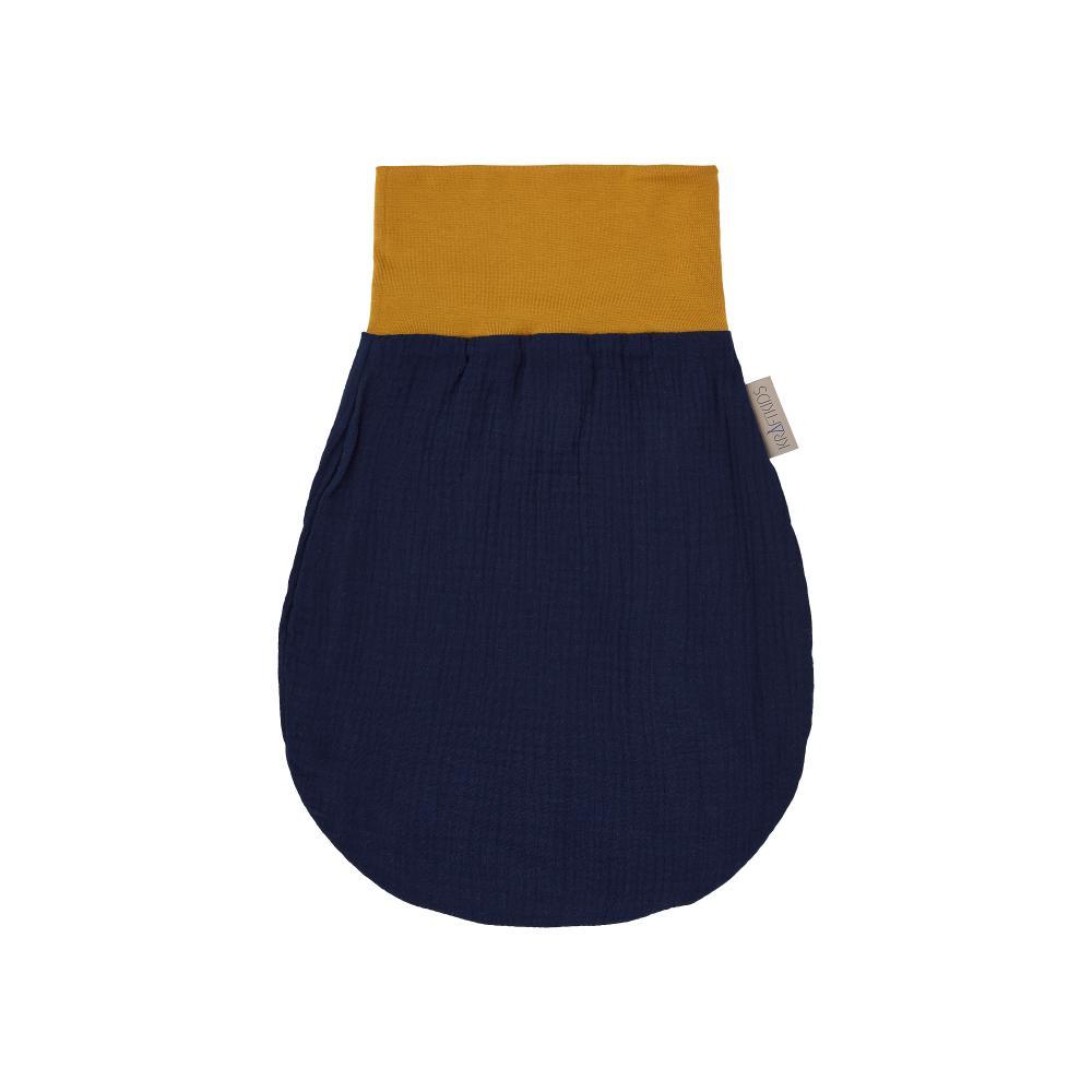 KraftKids Strampelsack Frühling Sommer Musselin dunkelblau Größe 60 cm (6 bis 12 Monate)