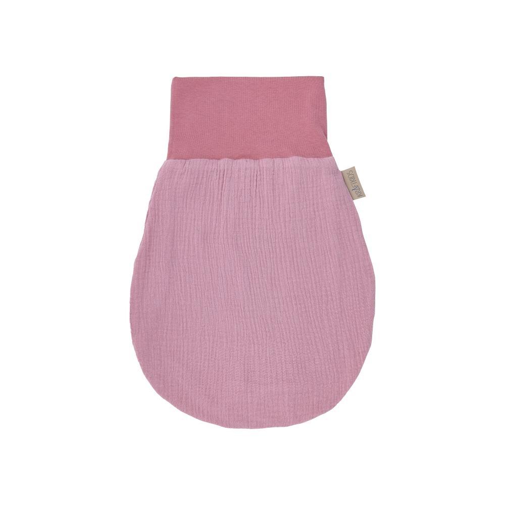 KraftKids Strampelsack Frühling Sommer Musselin rosa Größe 60 cm (6 bis 12 Monate)