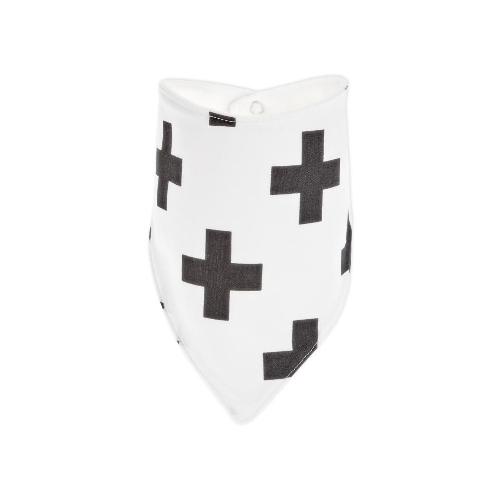 KraftKids Dreieckstuch schwarze Pluszeichen