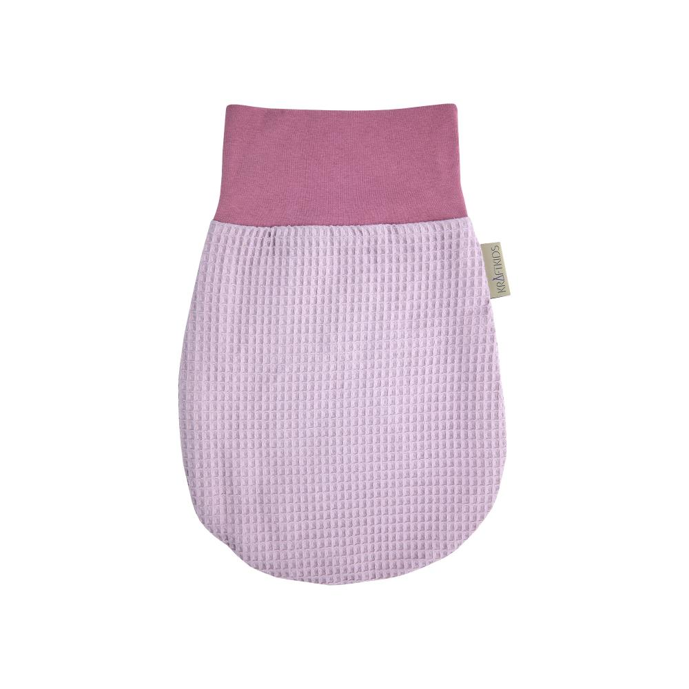 KraftKids Strampelsack Frühling Sommer Waffel Piqué rosa Größe 60 cm (6 bis 12 Monate)