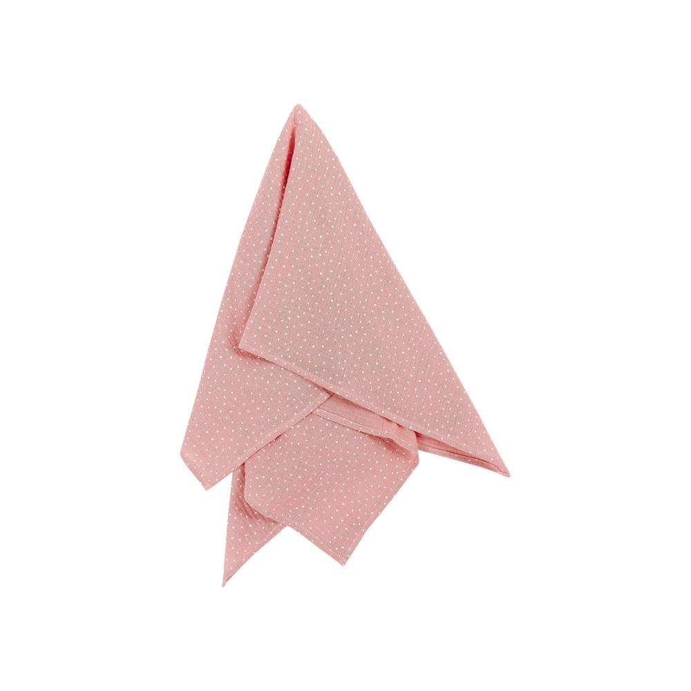 KraftKids Halstuch Musselin rosa Punkte