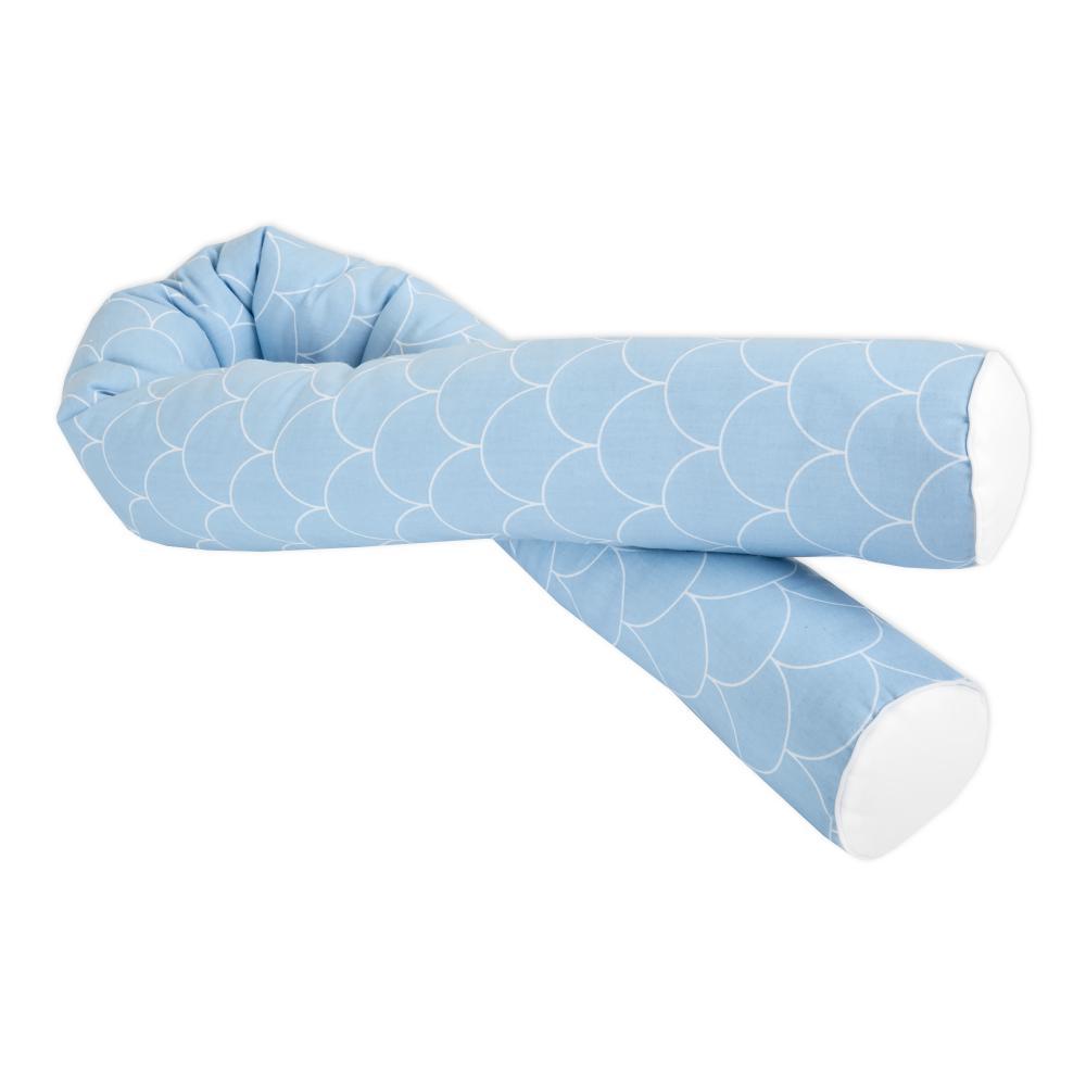 KraftKids Bettrolle weiße Halbkreise auf Pastelblau Stärke: 10 cm, Rollenlänge 100 cm