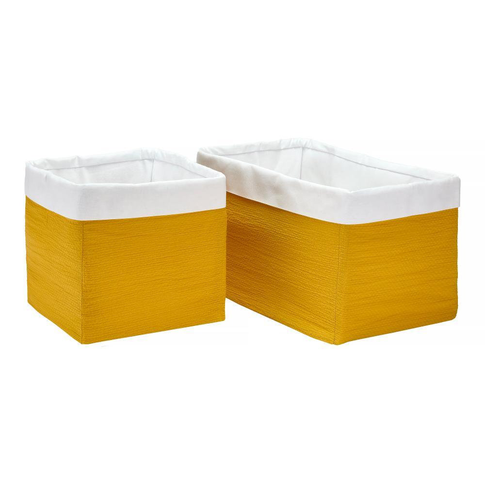 KraftKids Körbchen Doppelkrepp Gelb Mustard 20 x 20 x 20 cm