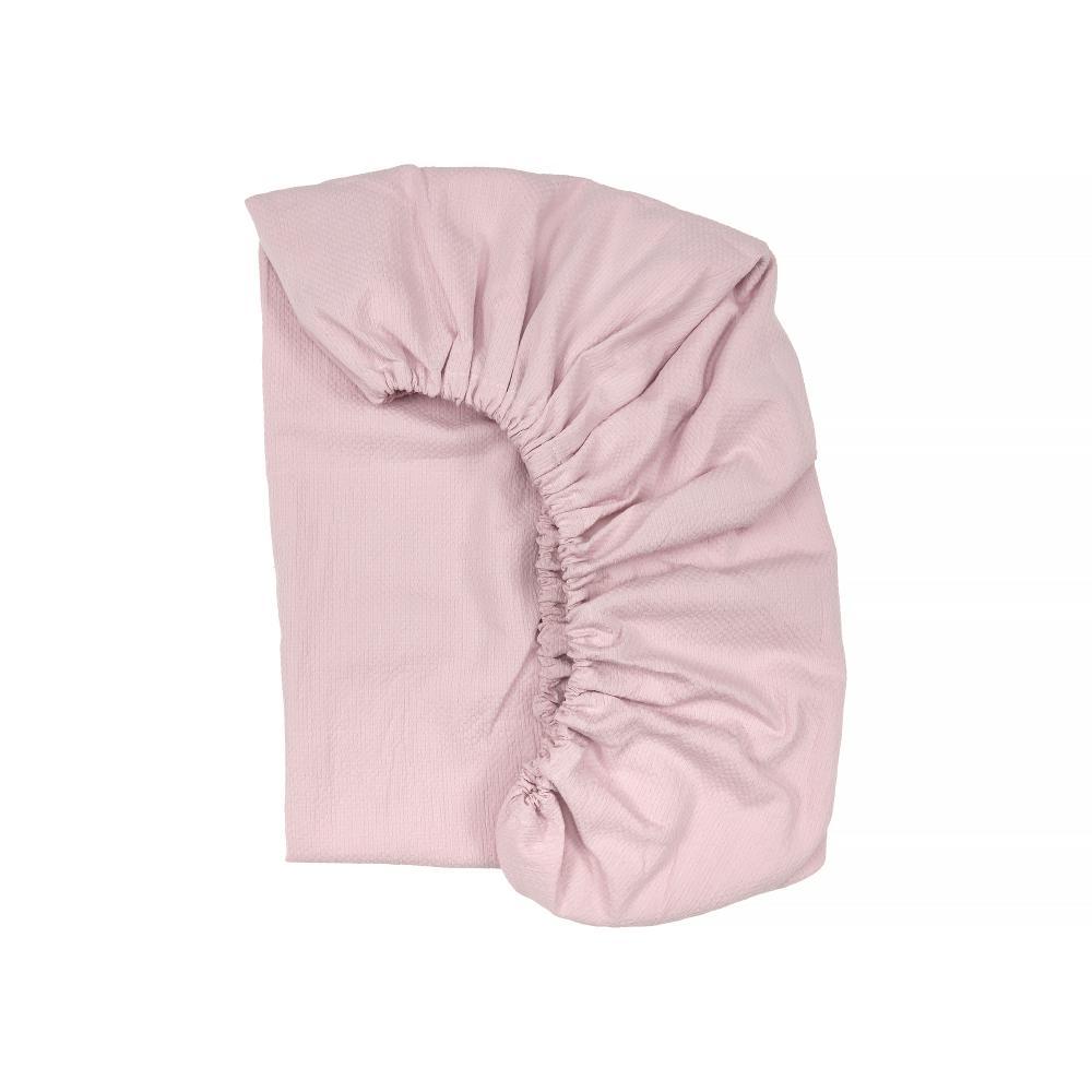 KraftKids Spannbettlaken Doppelkrepp Rosa passend für Matratze 120 x 60 cm
