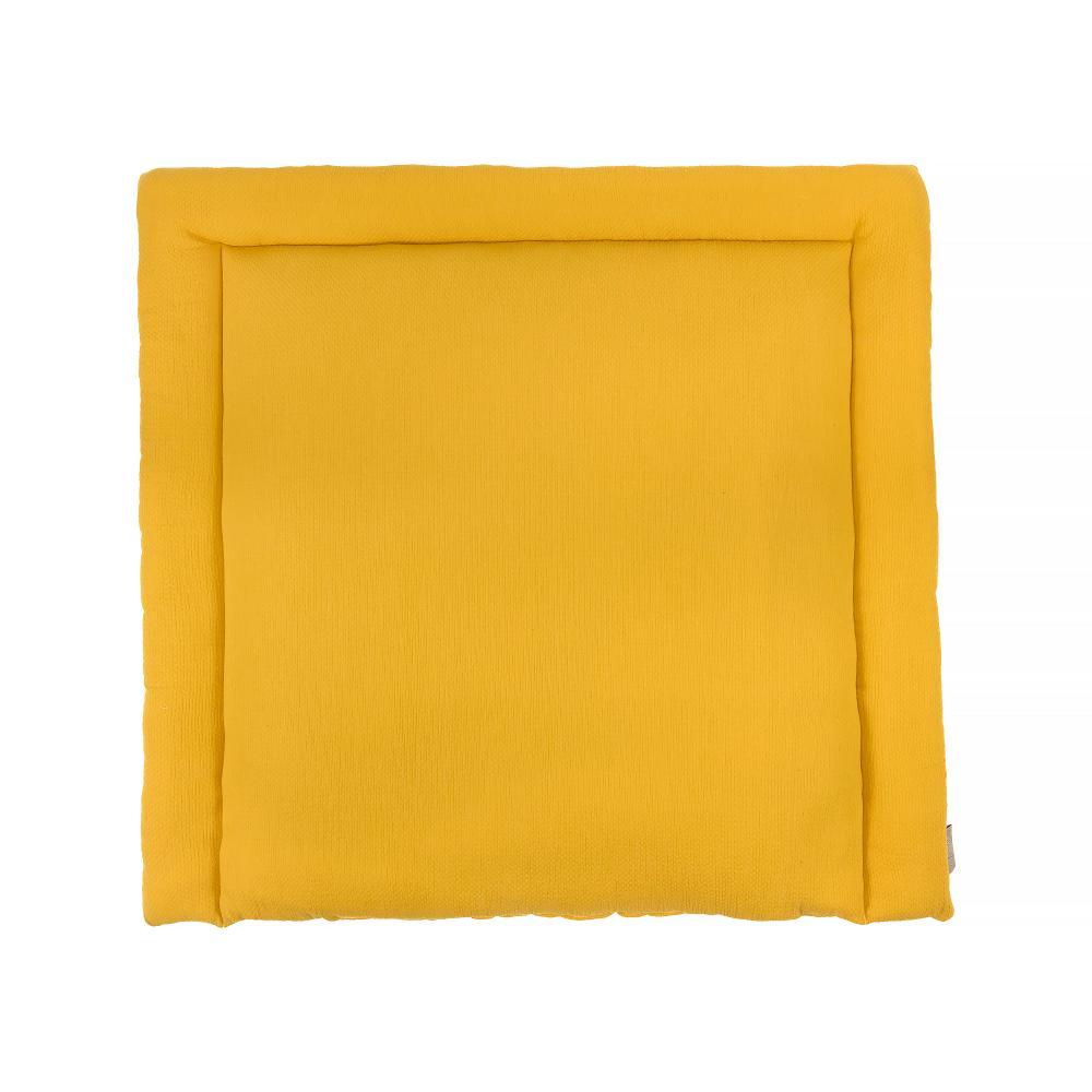 KraftKids Wickelauflage Doppelkrepp Gelb Mustard breit 75 x tief 70 cm
