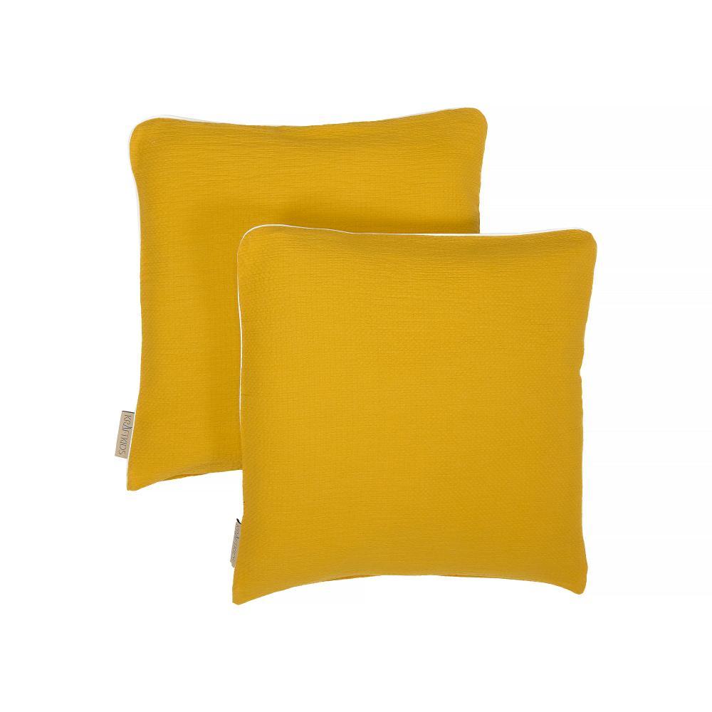 KraftKids Kissenbezug Doppelkrepp Gelb Mustard