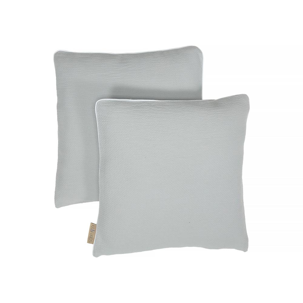KraftKids Kissenbezug Doppelkrepp Grau