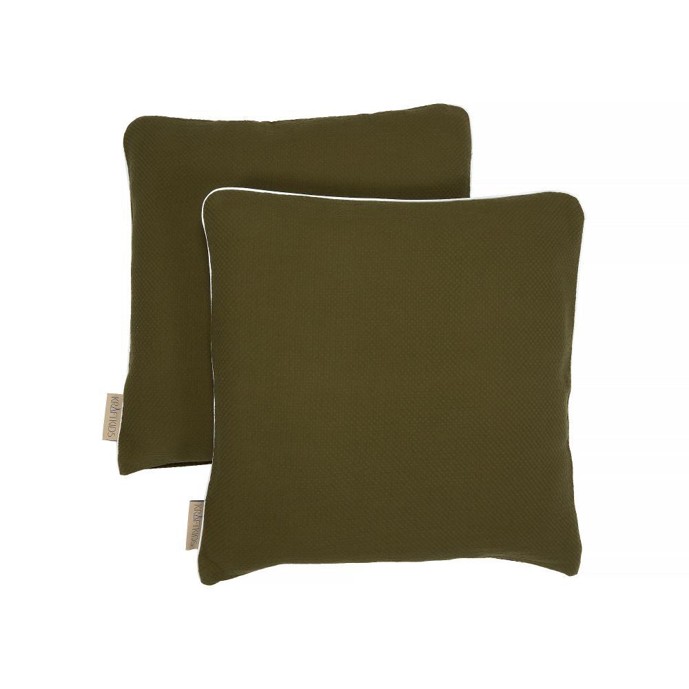 KraftKids Kissenbezug Doppelkrepp Grün Herbstgrün