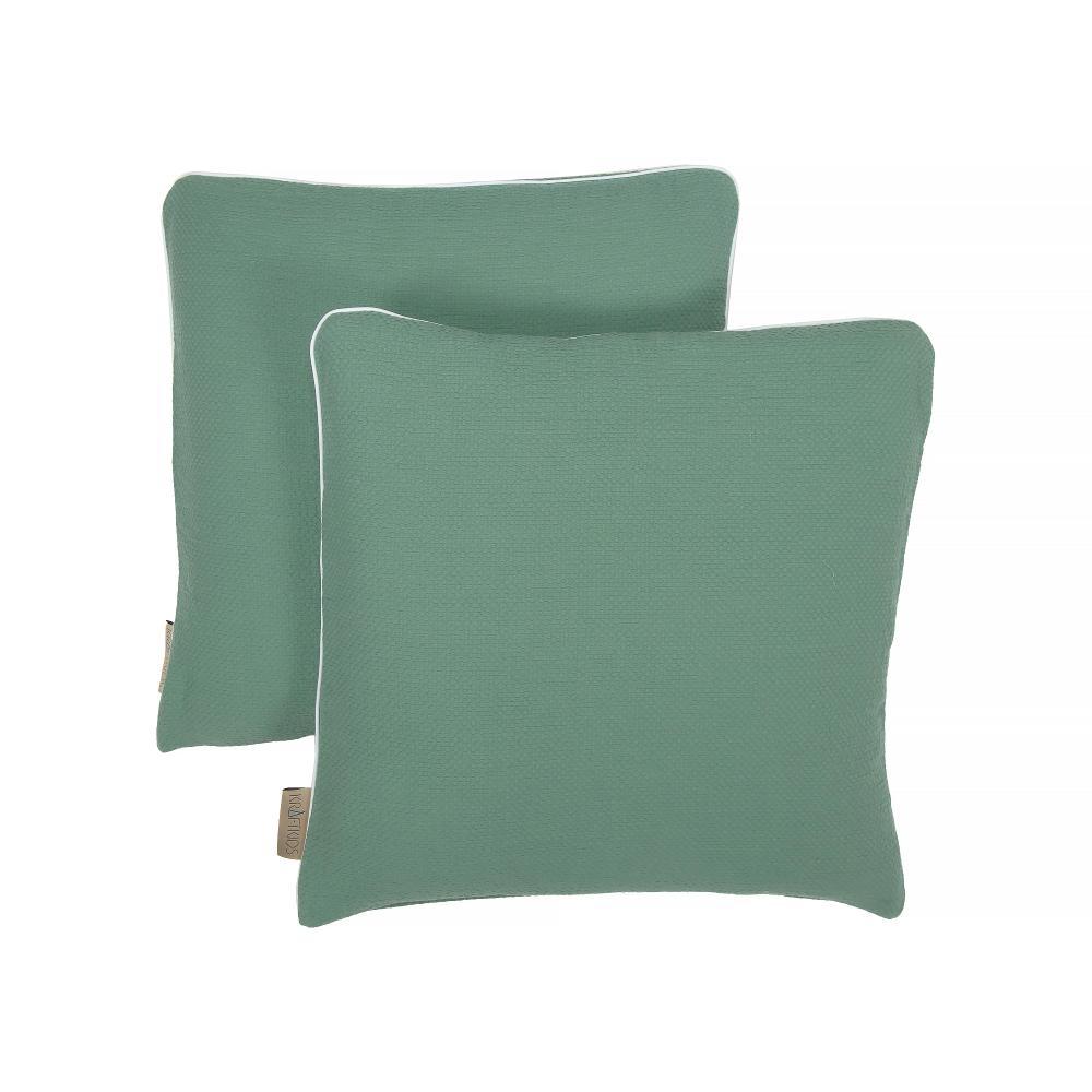 KraftKids Kissenbezug Doppelkrepp Grün Jade