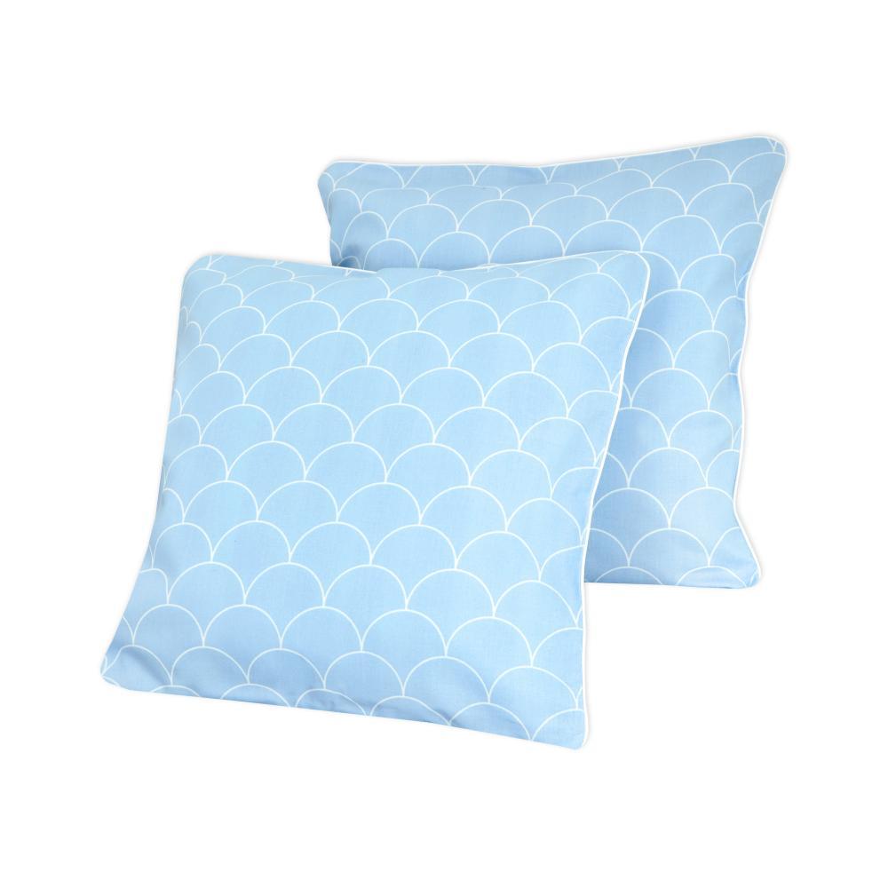 KraftKids Kissenbezug weiße Halbkreise auf Pastelblau