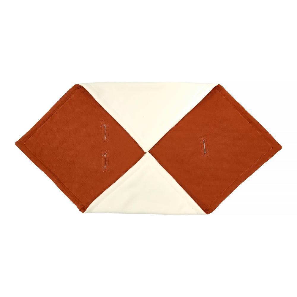 KraftKids Decke für Babyschale Winter Doppelkrepp Rot Herbstrot