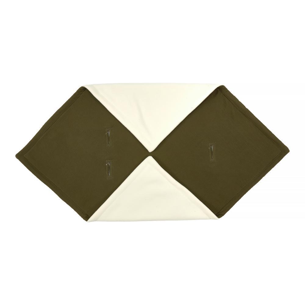 KraftKids Decke für Babyschale Winter Doppelkrepp Grün Herbstgrün