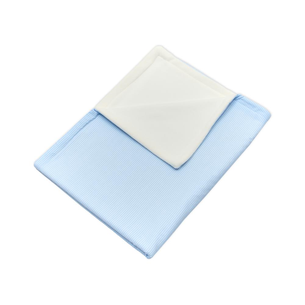 miniFifia Babydecke Streifen hellblau dünn