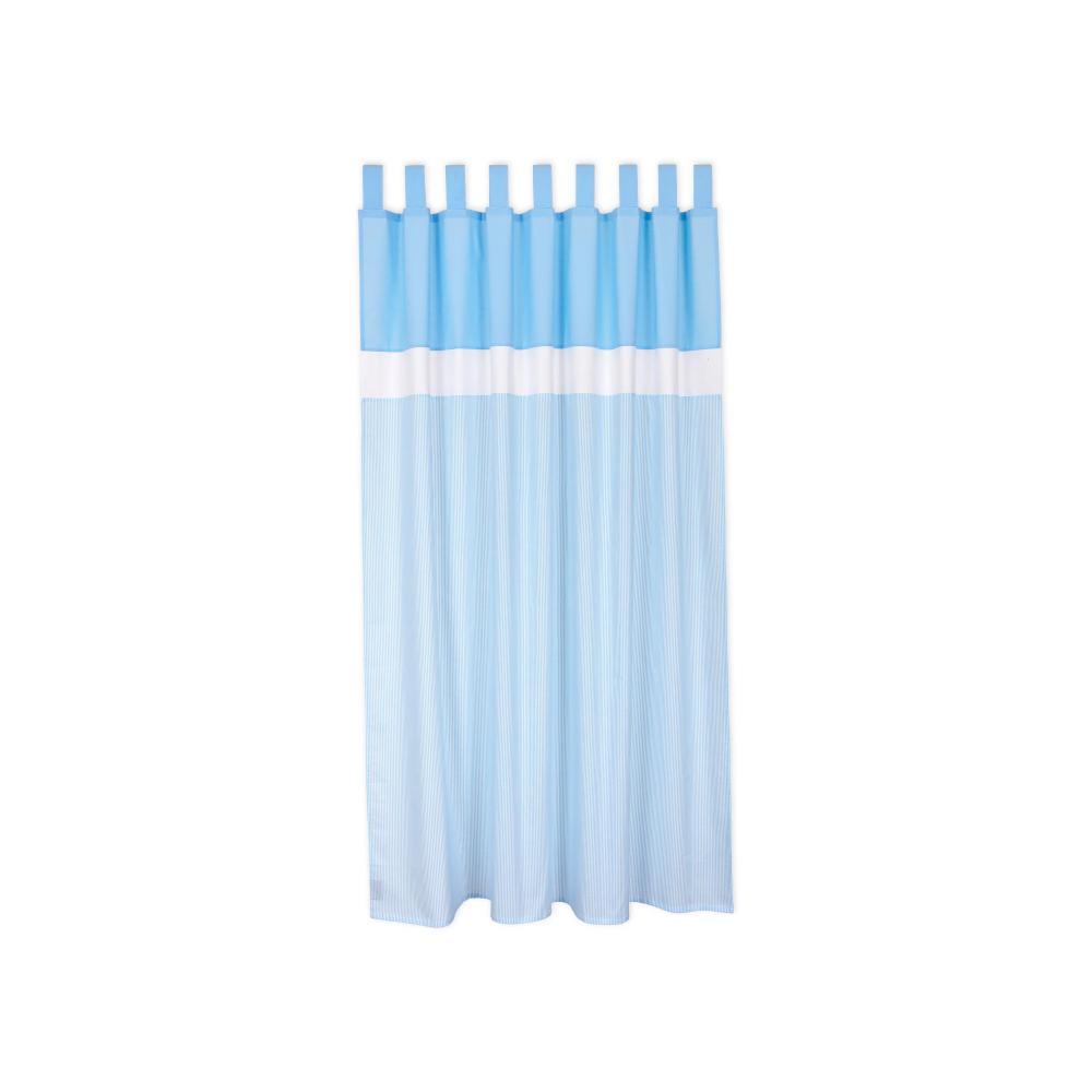 miniFifia Gardinen Unihellblau und Streifen hellblau dünn Inhalt: 2 Schals