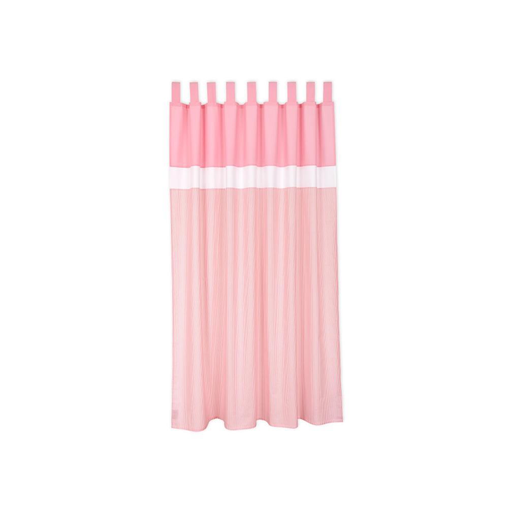 miniFifia Gardinen Unirosa und Streifen rosa Inhalt: 2 Schals