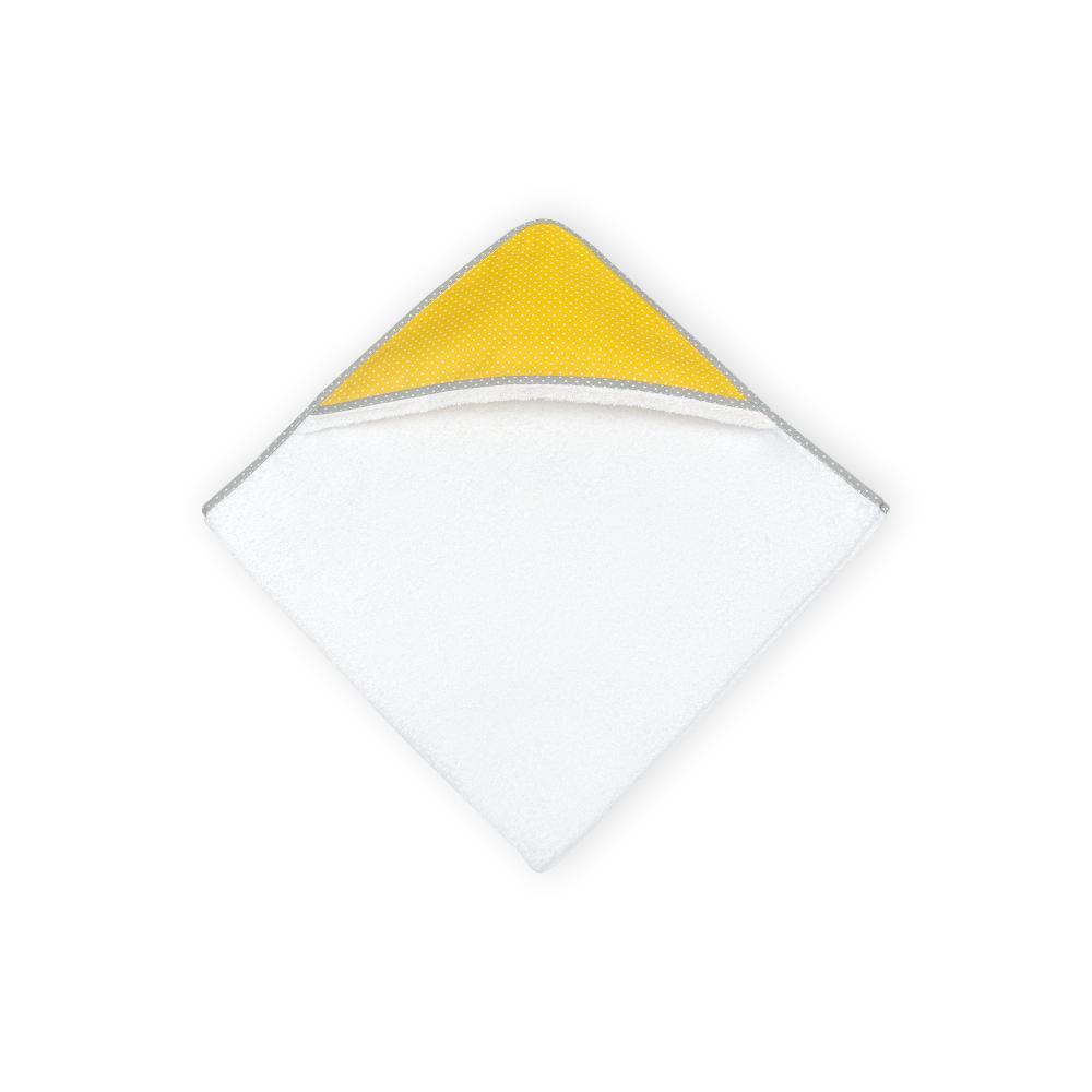KraftKids Kapuzenhandtuch weiße Punkte auf Gelb