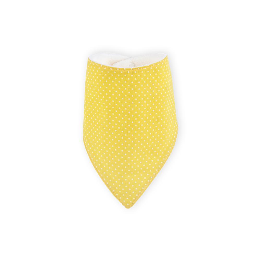KraftKids Dreieckstuch weiße Punkte auf Gelb