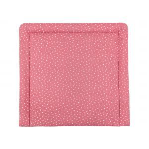 miniFifia Wickelauflage Musselin weiße Sterne auf Rosa breit 60 x tief 70 cm passend für Waschmaschinen-Aufsatz von KraftKids